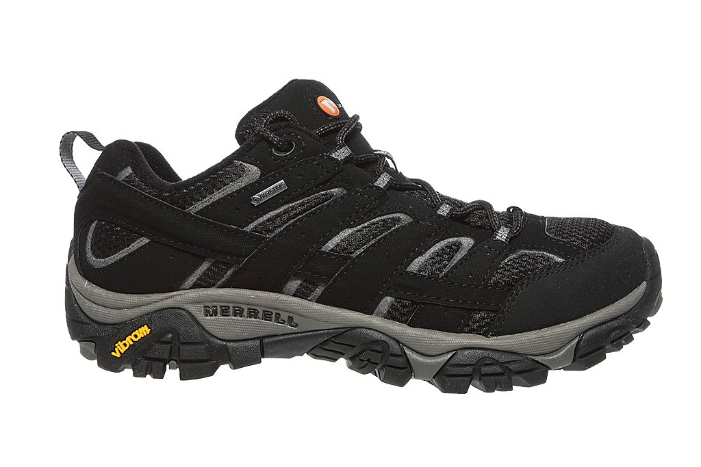 Black All Sizes Merrell Moab 2 Gtx Mens Footwear Walking Shoes