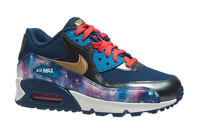 Nike Air Max 90 PREM LTR (GS) 724879-004 Galactic Colour ...