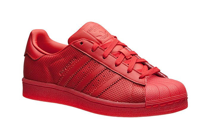 Mens adidas Superstar Adicolor Collegiate Red White S76502 US 8