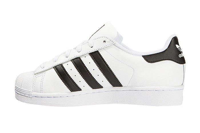 adidas Girls Superstar Foundation Big Kids S81019 White Pink Gold
